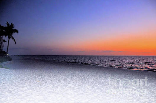 On the Beach at Sunset by Elaine Manley