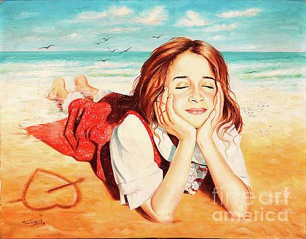 On The Beach by Imad Abu shtayyah