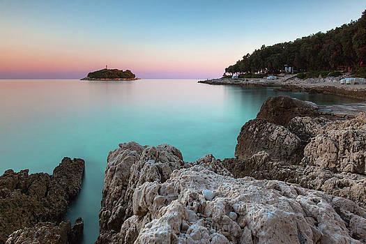 On the beach in dawn by Davor Zerjav