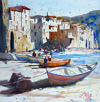 On the beach of Cefalu by Andre MEHU
