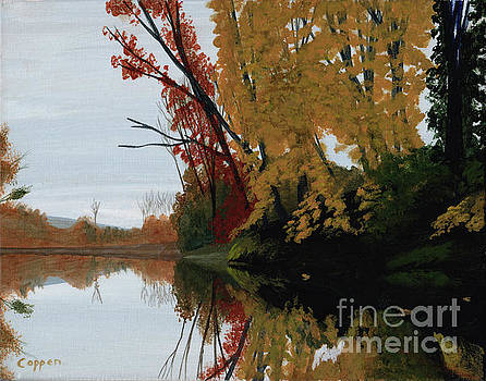 On the Mohawk in the Fall by Robert Coppen