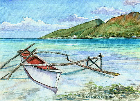 On The Motu-tahiti by Michele Ross