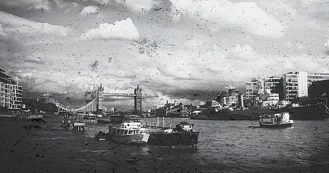 The River Thames In Mono by Andrew David Photography