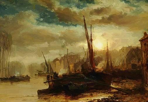 Webb James - On The Thames Near Kew 1878
