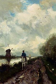 Weissenbruch Johan Hendrik - On The Tow Path Along The River Amstel