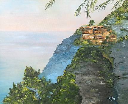 On The Way To Sorrento, Italy by Judy Jones