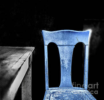 One Blue Bodie Chair by Craig J Satterlee