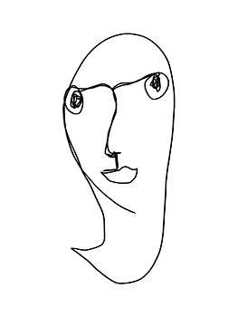 Bill Owen - one line blind contour Madame