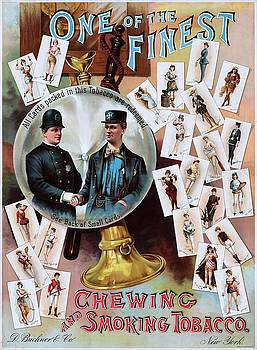 One of the finest, advertising poster for tobacco collecting cards, ca. 1890 by Vintage Printery