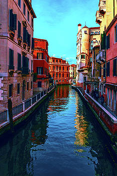one of the many beautiful old Venetian canals on a Sunny summer day by George Westermak