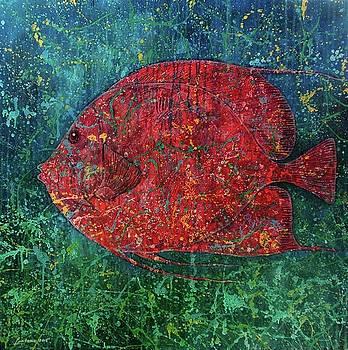 One Red Fish by Supantono Suwarno