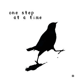 One Step At A Time Wee Bird by Lisa Weedn