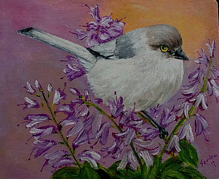 One Titmouse Many Flowers by Sandra Maddox