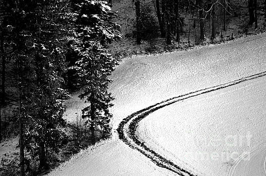 One Way - Winter in Switzerland by Susanne Van Hulst