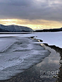 One Winter Day By The Lake 2 by Victor K