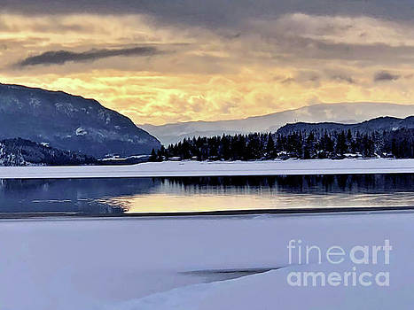 One Winter Day By The Lake 4 by Victor K
