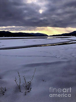 One Winter Day By The Lake 5 by Victor K