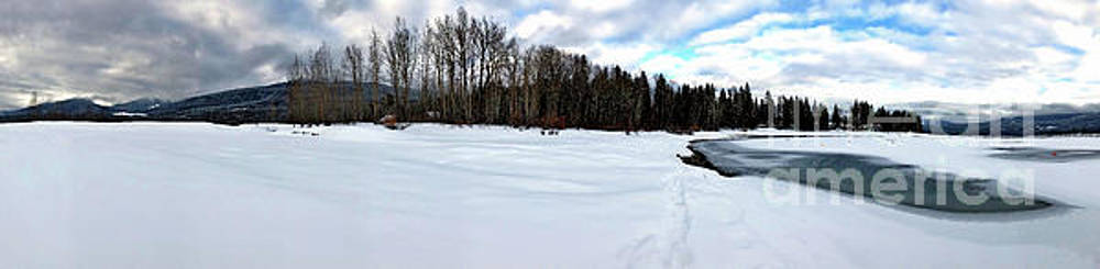 One Winter Day By The Lake by Victor K