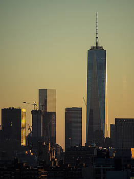 One World Trade Center Sunset by Alan Roberts