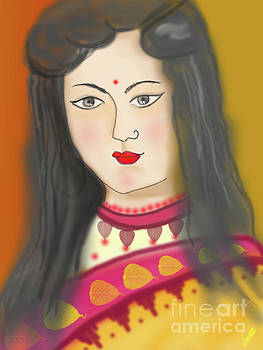 One young woman by Artist Nandika Dutt
