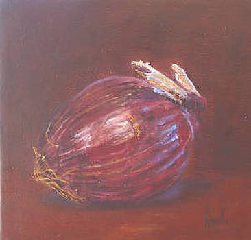 Onion Paintings  Red Onion  Virgilla Art by Virgilla Lammons