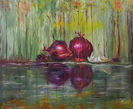 Onions on the Shore by Keith Zudell