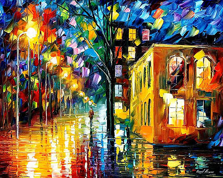 Only Love - PALETTE KNIFE Oil Painting On Canvas By Leonid Afremov by Leonid Afremov