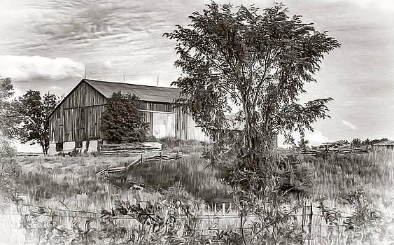 Steve Harrington - Ontario Barn 2 - BW