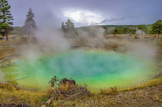 Opal Spring Yellowstone National Park by Scott McGuire