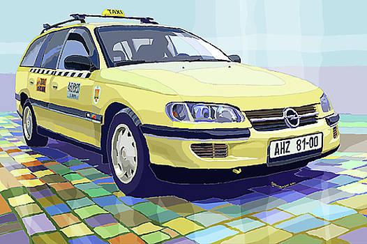 Opel Omega A Caravan Prague Taxi by Yuriy  Shevchuk