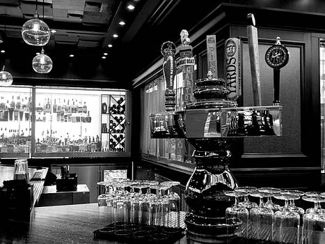 Open Bar - Black and White by Arlane Crump