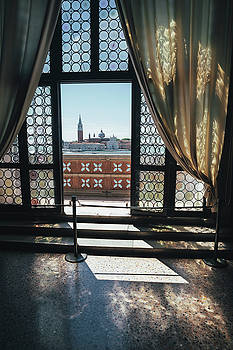 Open palace window in Venice, Italy by Ivan Bastien