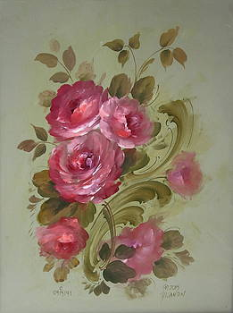 Open Roses and Acanthus Scrolls by David Jansen
