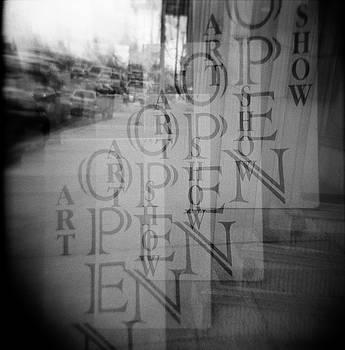 Open Sign Quadruple Multiple Exposure Holga Photography by Lisa Shea