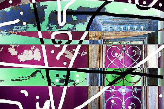 Opened Door On Weathered Wall by Matjaz Preseren