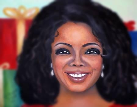 Oprah Painting by Linda Mungerson