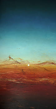 Opt.38.17 Moonrise Diptych 1 of 2 by Derek Kaplan