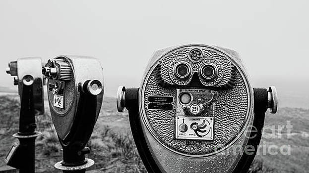 Optical Coin Operated Binoculars at Chatham Beach Cape Cod by Edward Fielding