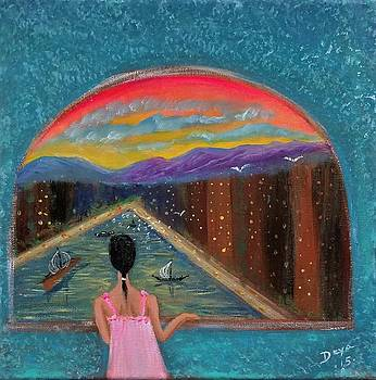 Optimistic Window by Deyanira Harris