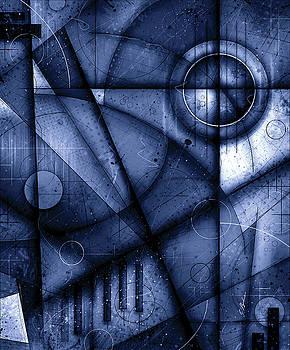 Opus No.7B Legato In Blue by Gary Bodnar