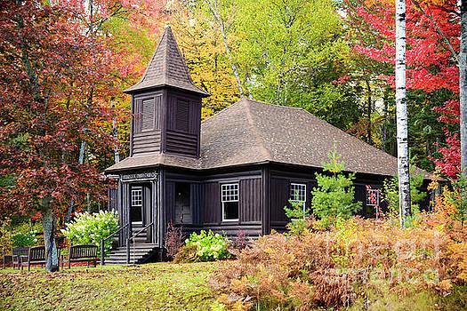 Oquossoc Union Church by Alana Ranney