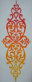 Orange abstract by Saran A N