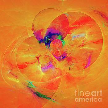 Orange Abstract by Deborah Benoit