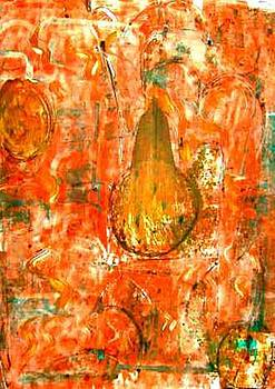 Orange Abstract by Melissa And
