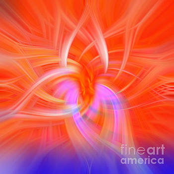 Orange Abstract by Phill Petrovic