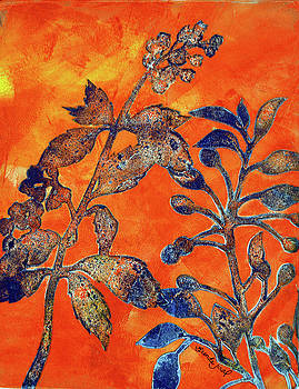 Orange and Blue by Brenda Jiral