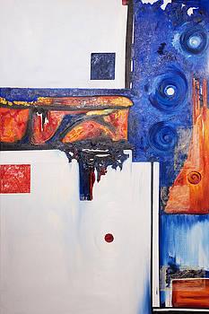 Orange and Blue by Brenda Salamone