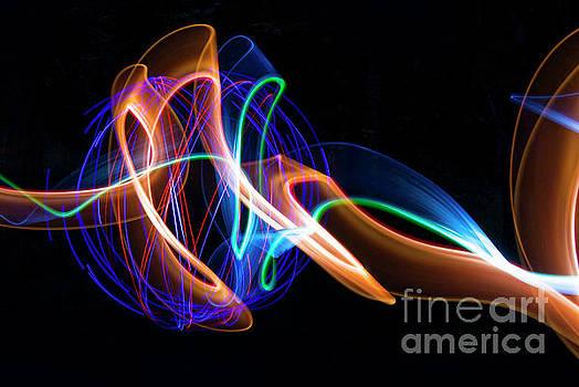 Orange and Blue Orb by Brian Jones