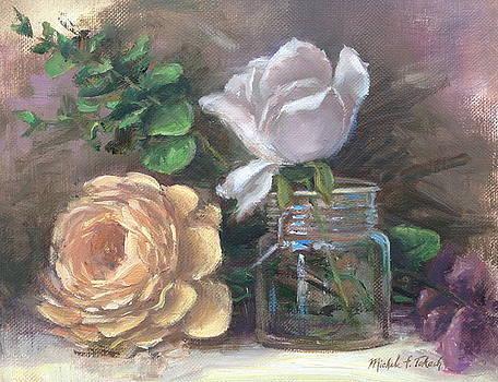 Orange and White Flower Arrangement by Michele Tokach