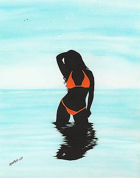 Orange Bikini by Edwin Alverio